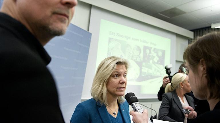 Magdalena Andersson. Foto/Kuva: Jessica Gow/TT