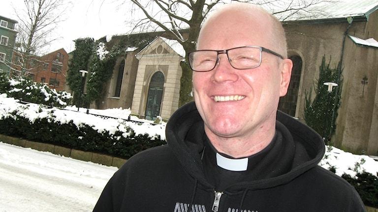 Pappi Kimmo Kling Boråsista. Kuva: Teija Martinsson