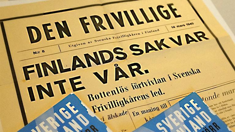 Vapaaehtoisten lehti: Finlands sak var inte vår/ foto: Armemuseum