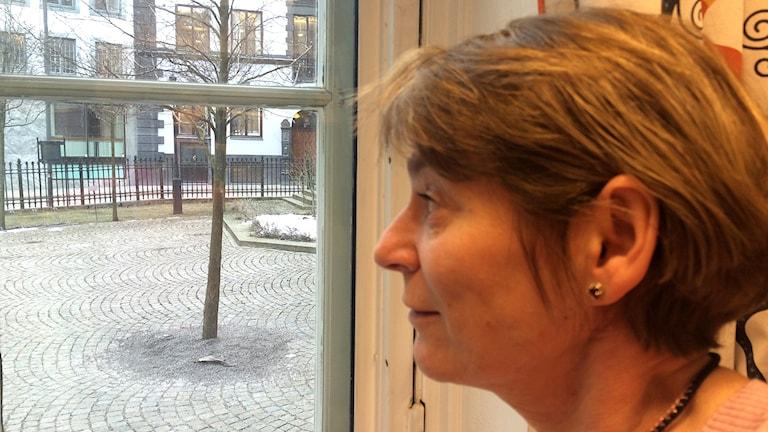 Tukholman juutalaisen seurakunnan kansallisista vähemmistöasioista vastaava Marina Burstein. Foto: Virpi Inkeri/SR