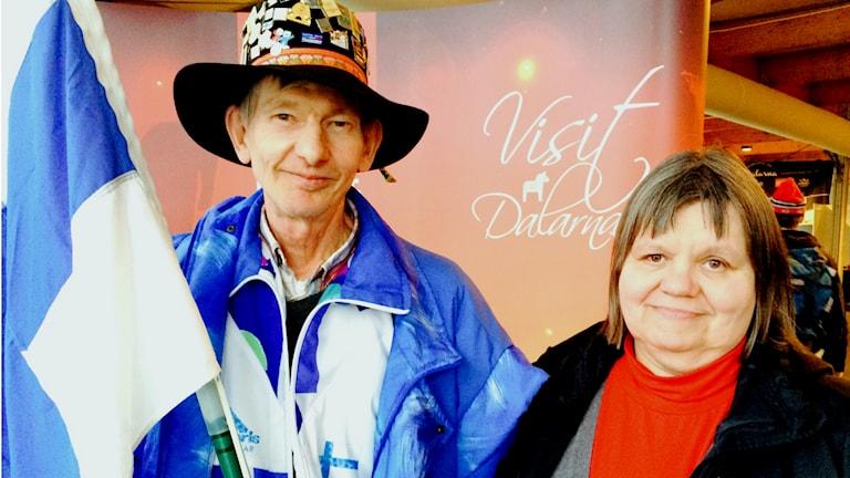 Airi Lindström ja Hannu Lindström Tukholmasta ovat kisakonkareita. Kuva: Tytti Jussila / SR Sisuradio