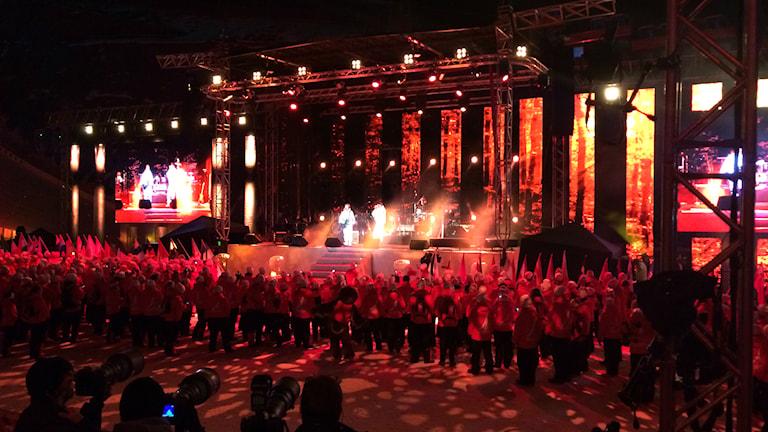 Falunin MM-kisojen avajaiset, lavalla Mando Diao. Kuva: Tytti Jussila / SR Sisuradio
