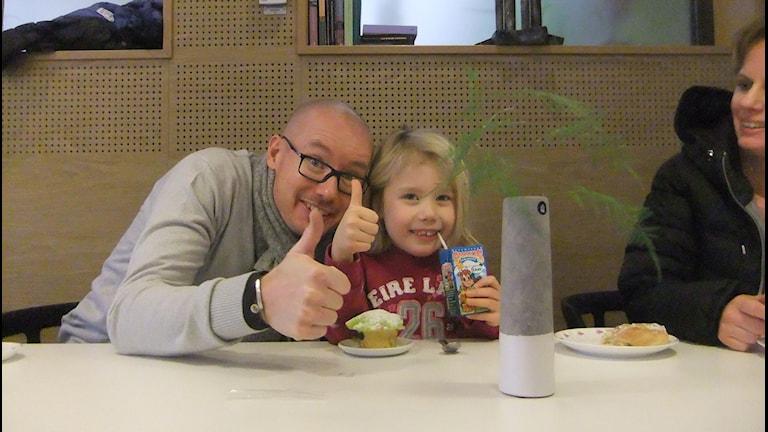Mats ja Wilma Kiviniemi. Kuva Pekka Ranta, Sveriges Radio.