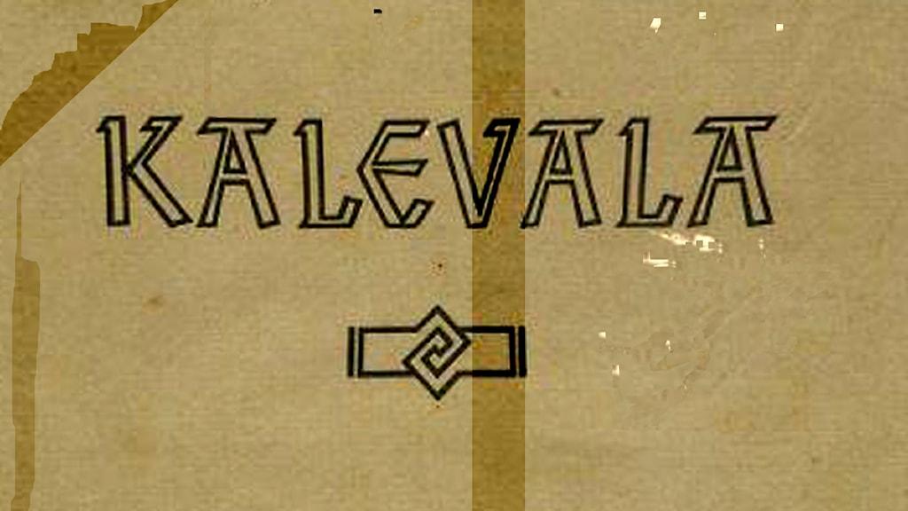 Käsissä kulunut Kalevala.