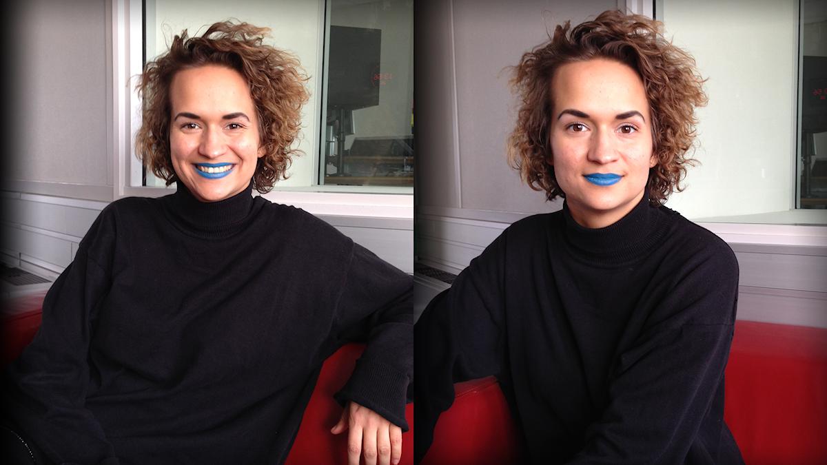 Bianca Kronlöf i Popula-studion Foto: Marika Pietilä