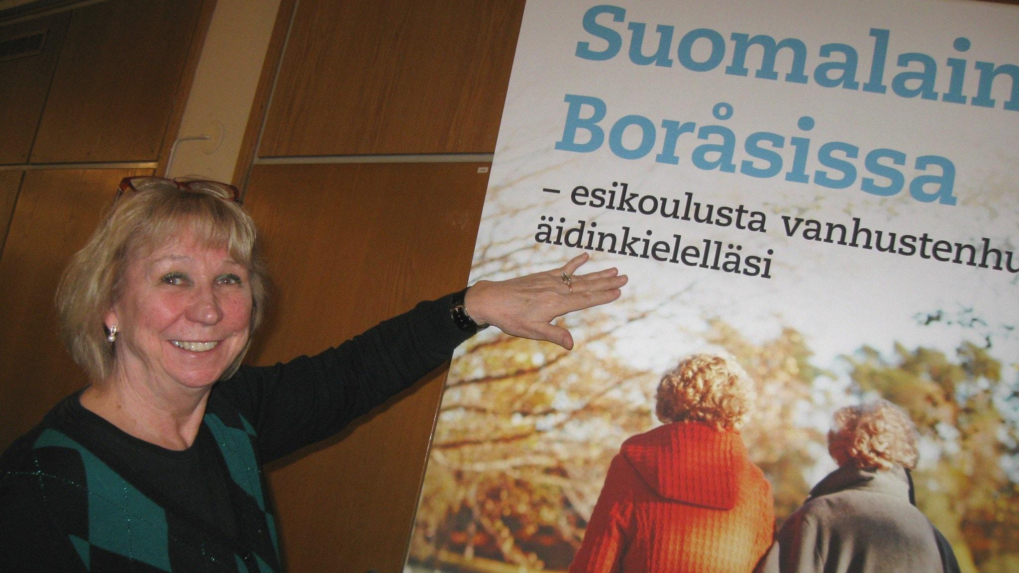 Boråsin kunnan suomen kielen hallintoalueen toiminnan koordinoija Paula Wendell