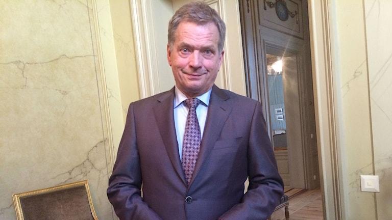 Suomen presidentti Sauli Niinistö. Foto: Kaarina Wallin/Sveriges Radio Sisuradio
