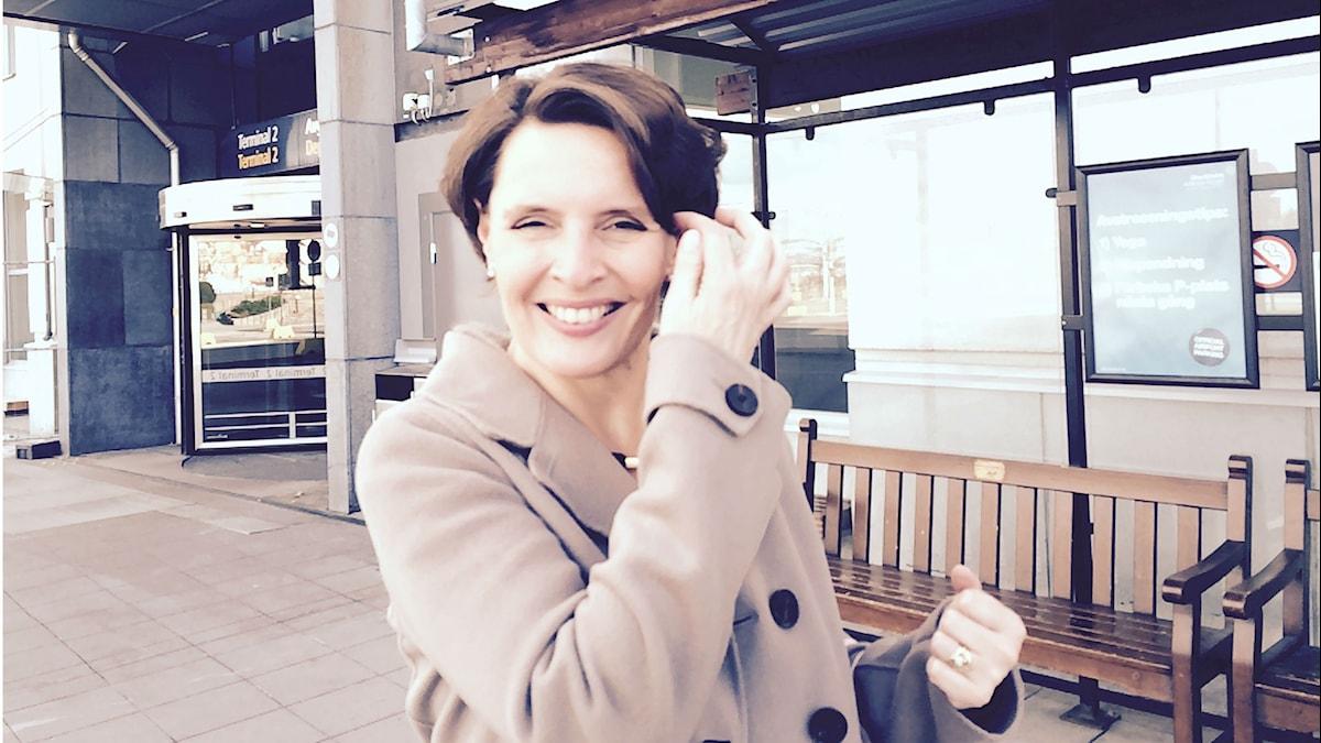 Anne Berner Arlandassa. Kuva/Foto: Jorma Ikäheimo/Sveriges Radio Sisuradio.
