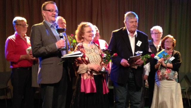 Joukko tarinaiskijöitä Eskilstunassa