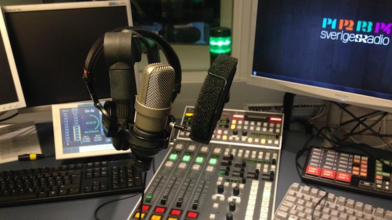 Kuvassa Sisuradion studio. Foto: Ramin Farzin/Sveriges Radio