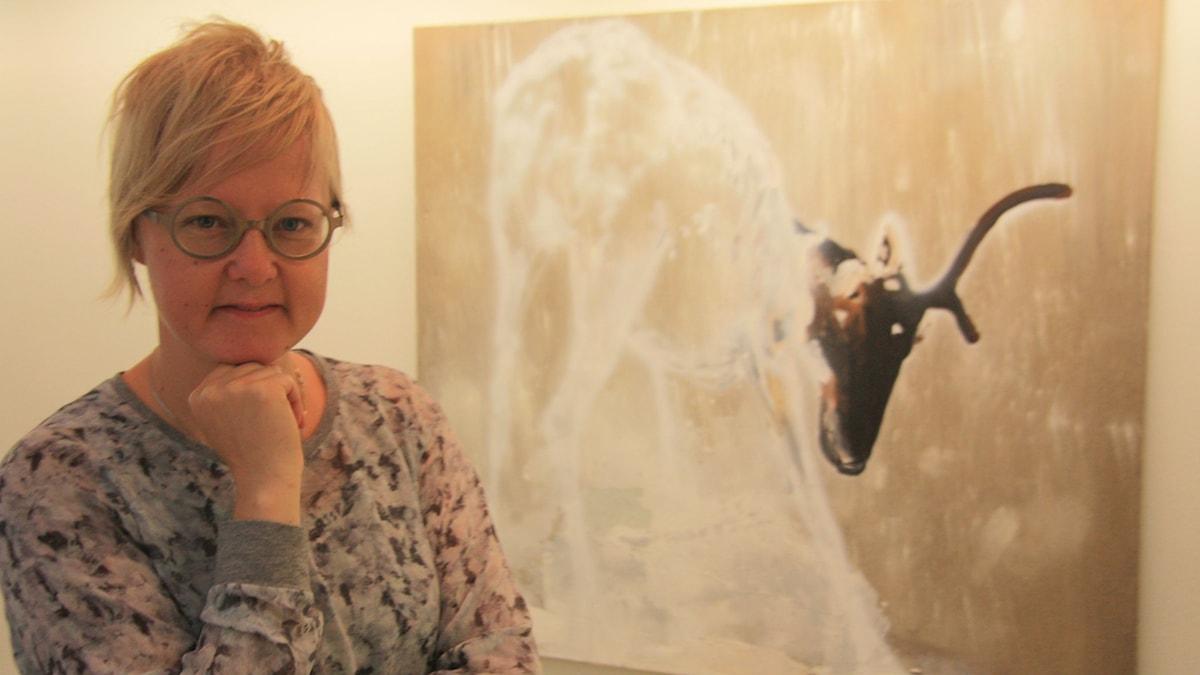 Haaparantalais-torniolainen Hanna Kanto on Kalottjazz & Buesin toinen taiteilija. Kuva/Foto: Hannele Kenttä