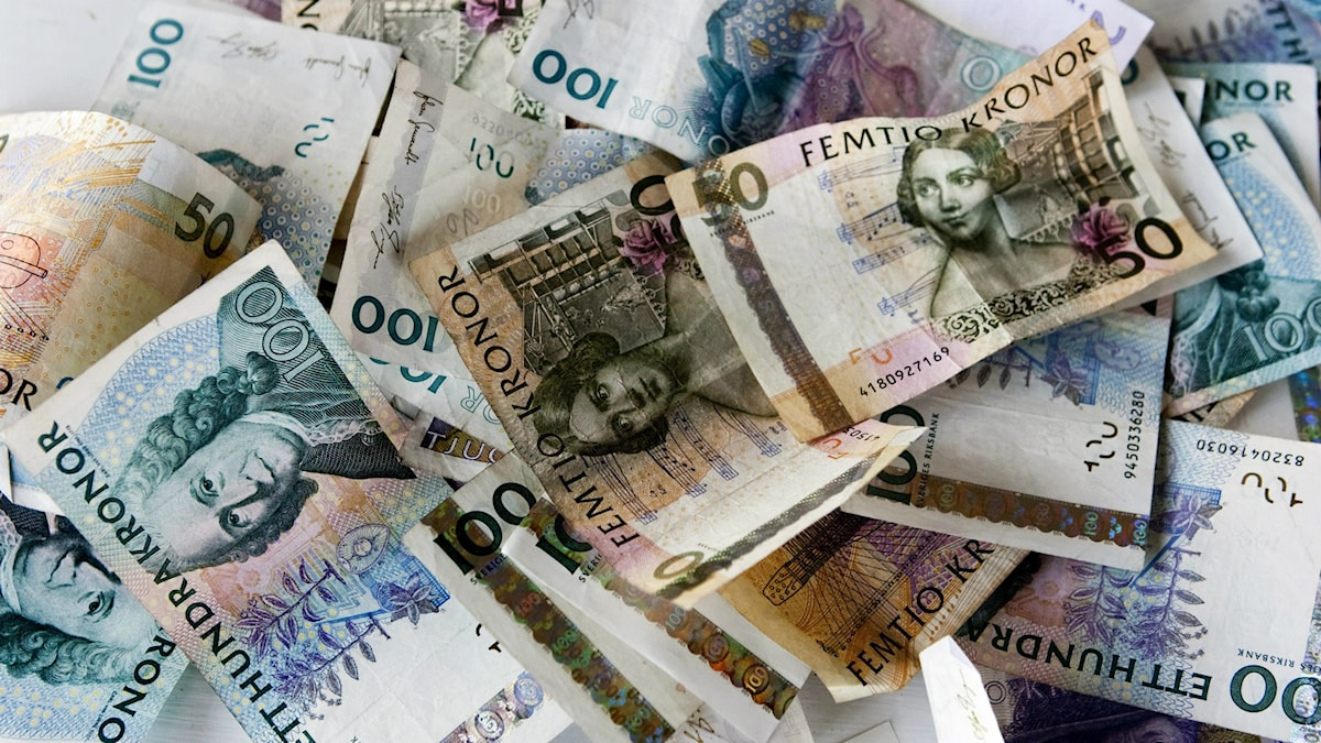 Olika sedlar, svenska kronor  Foto: Christine Olsson / TT