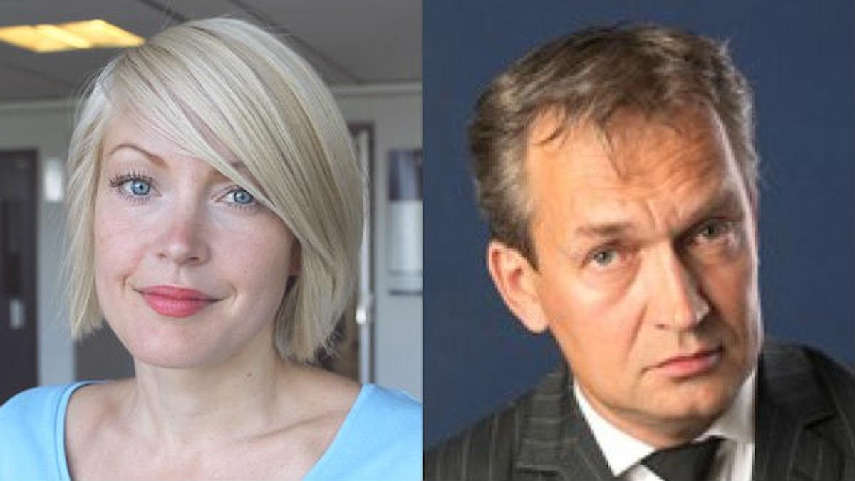 Sofia Taavitsainen ja Asko Sahlberg. Foto: Elina Härmä/Sveriges Radio Sisuradio ja Privat.