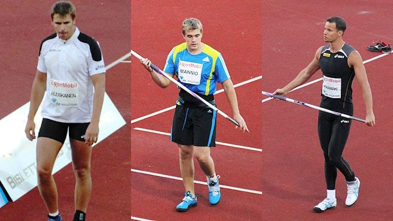 Keihäänheitto. MM-kisat. Antti Ruuskanen, Ari Mannio, Tero Pitkämäki. Foto: Chell Hill / Google Images / CC BY-SA 3.0 NO