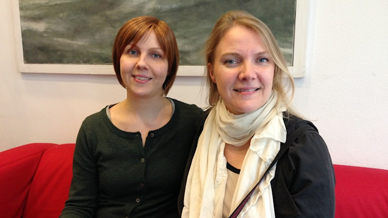 Onerva Kyläsalo, kuorolaulaja, ja Leena Malkki, solisti ja oopperan tuottaja. Foto: A-L Hirvonen Nyström, SR Sisuradio