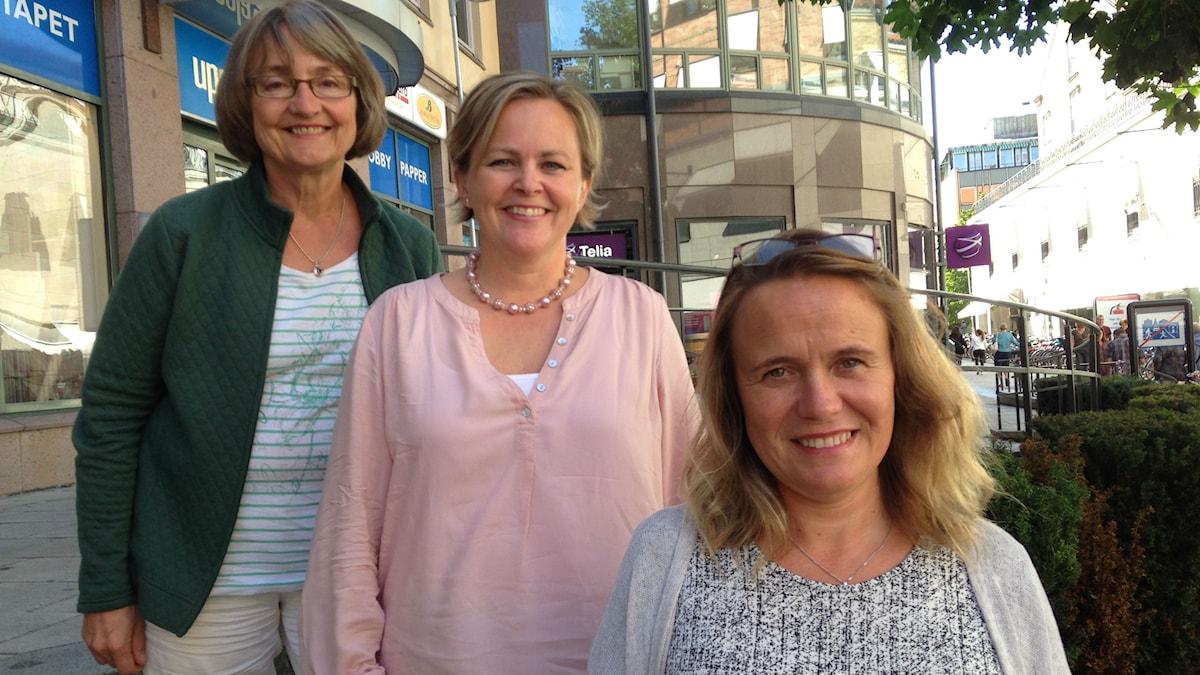 Kielipedagogit Leena Huss  Åsa Palviainen ja  Susan Helldén-Paavola. Foto Pirjo Hamilton.SR Sisuradio