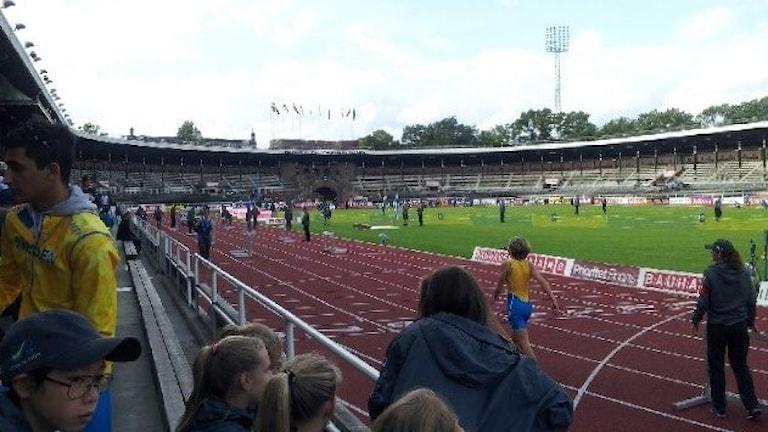 Yleisurheilumaaottelu ratkeaa sunnuntaina Tukholman stadionilla. Kuva/Foto: Anna Tainio/Sveriges Radio Sisuradio