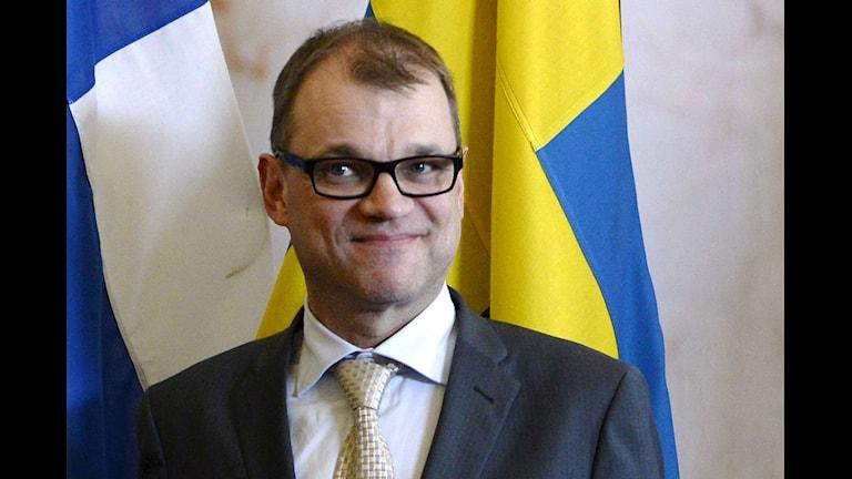Suomen pääministeri Juha Sipilän taannoisella Ruotsin vierailullaan. Kuva: Jessica Gow / TT Nyhetsbyrån