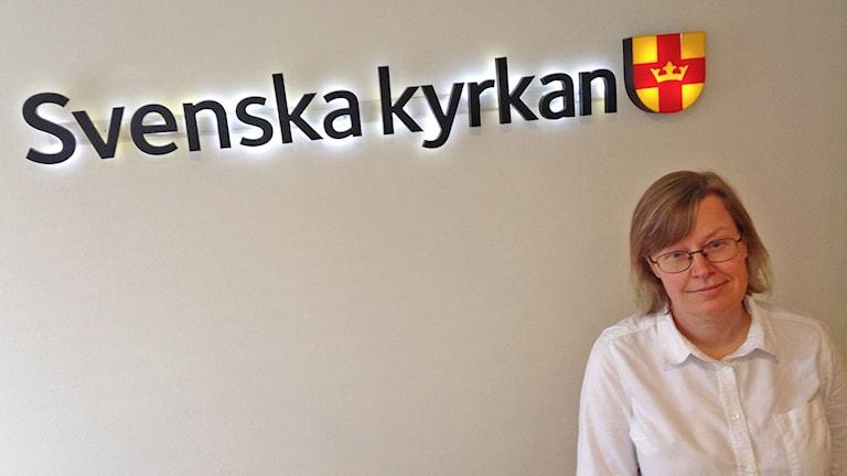 Kaisa Syrjänen Schaal, Ruotsin kirkon monikielisyysyksikön johtaja. Kuva/Foto: Pirjo Hamilton, SR Sisuradio