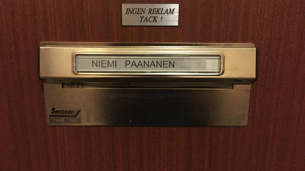 Kuvassa näkyy nimikyltti jossa lukee Niemi Paananen.