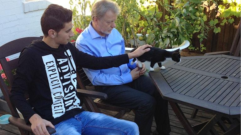 Perheeseen kuuluu myös pari kissaa ... Foto: A-L Hirvonen Nyström/SR Sisuradio