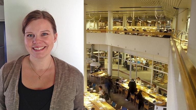 Leena Sahlström, Tukholman Yliopisto. Foto:Erik Regnström/SR Sisuradio, Universitetsbiblioteket Foto: Amanda Jackalin/ Stockholms universitet