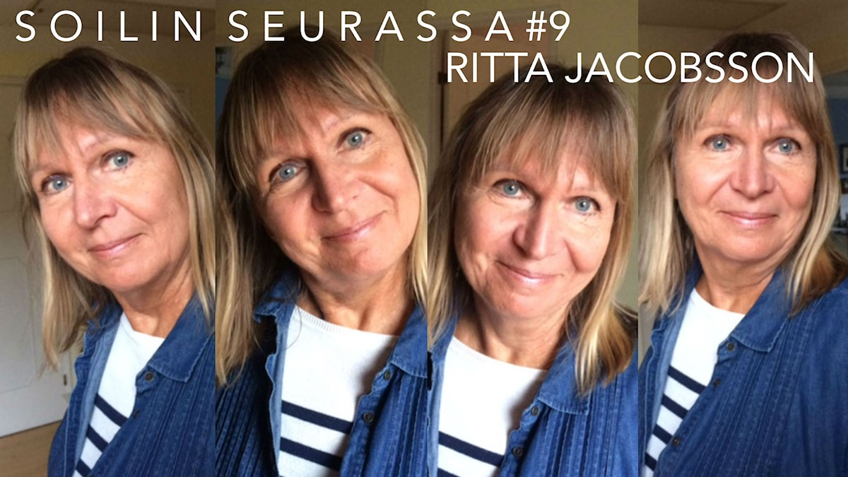 Kirjailija Ritta Jacobsson. Kuva: Soili Huokuna / Sveriges Radio Sisuradio