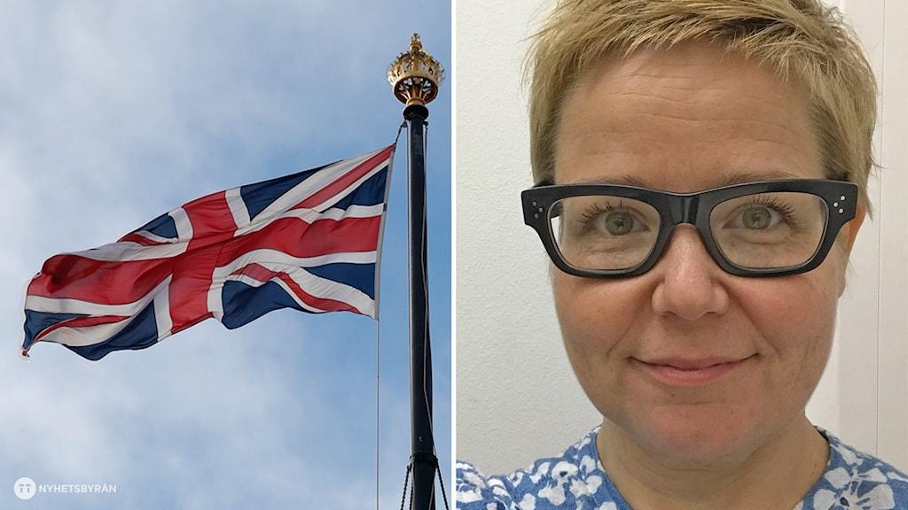 Britannian lippu ja Hanna Pajunen-Walsh