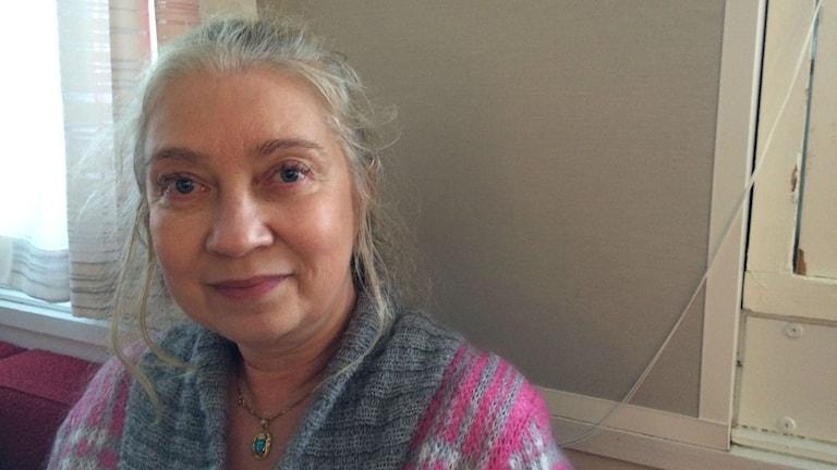 Paula Wallenius Iltapäivän vieraana. Foto: Hanna Lindberg/Sverigesradio Sisuradio.