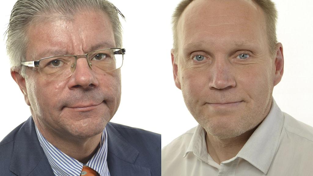 Hans Wallmark (M),  Pyry Niemi (S). Foto: Riksdagsförvaltningen.
