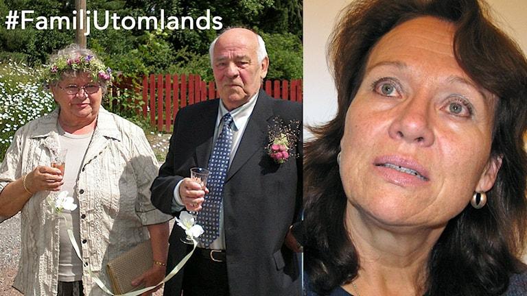 Merja Bahlsten ja vanhemmat Mirjami ja Kalle. Foto: Teija Martinsson/Sveriges Radio Sisuradio, ja Merja Bahlstenin albumi
