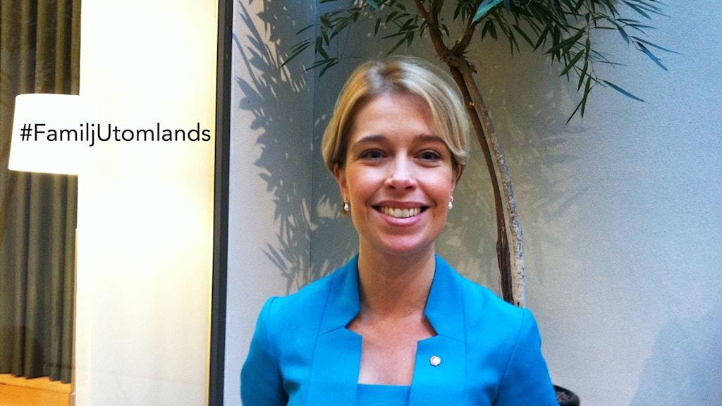 Sosiaalivakuutusministeri Annika Strandhäll. Kuva: Kaisa Vuonokari / Sveriges Radio Sisuradio