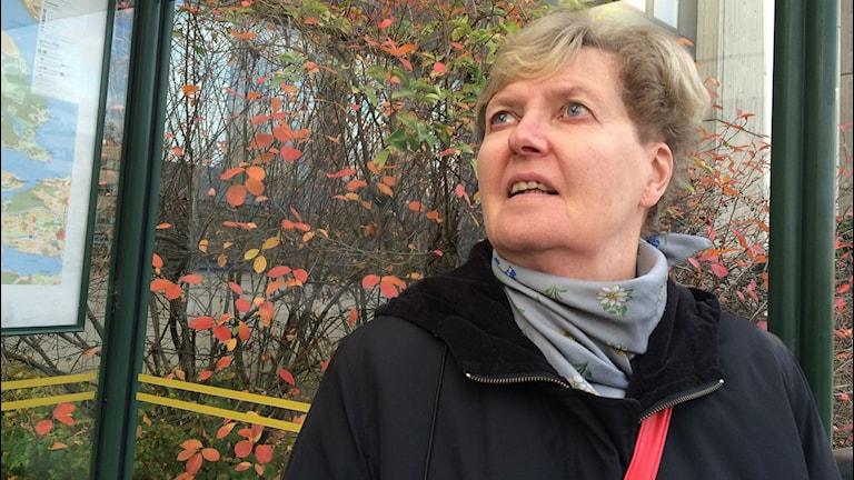 Soila Kaivanto-Juhola poistetttiin liputtomana linja-autosta. Kuva: Kaarina Wallin/Sveriges Radio Sisuradio