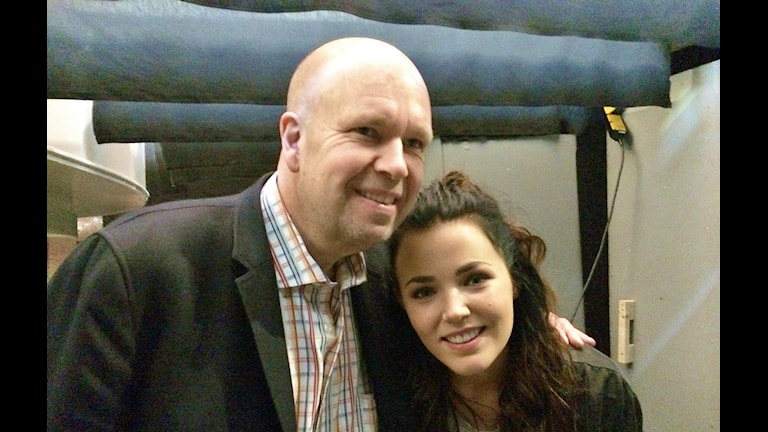 Lasse Kronér och Miriam Bryant Backstage