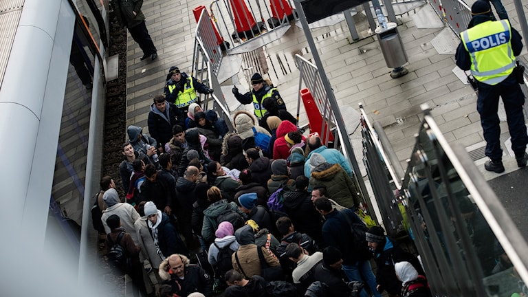 Pakolaisia, asylsökande i Malmö. Foto: JohanNilsson/TT