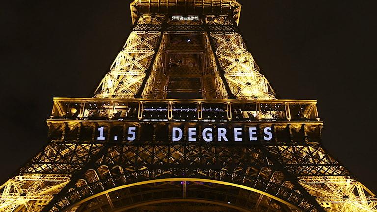 FOTO: FRANCOIS MORI/TT Klimgagipfel Paris Schweden Kohelndioxid Treibhausgas