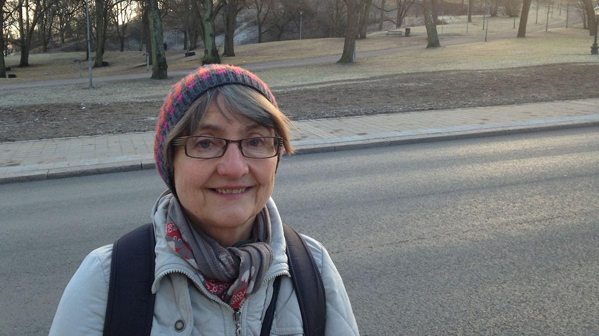 Professori Leena Huss on toiveikas suomenkielen tulevaisuuden suhteen.Foto Pirjo Hamilton.SR Sisuradio