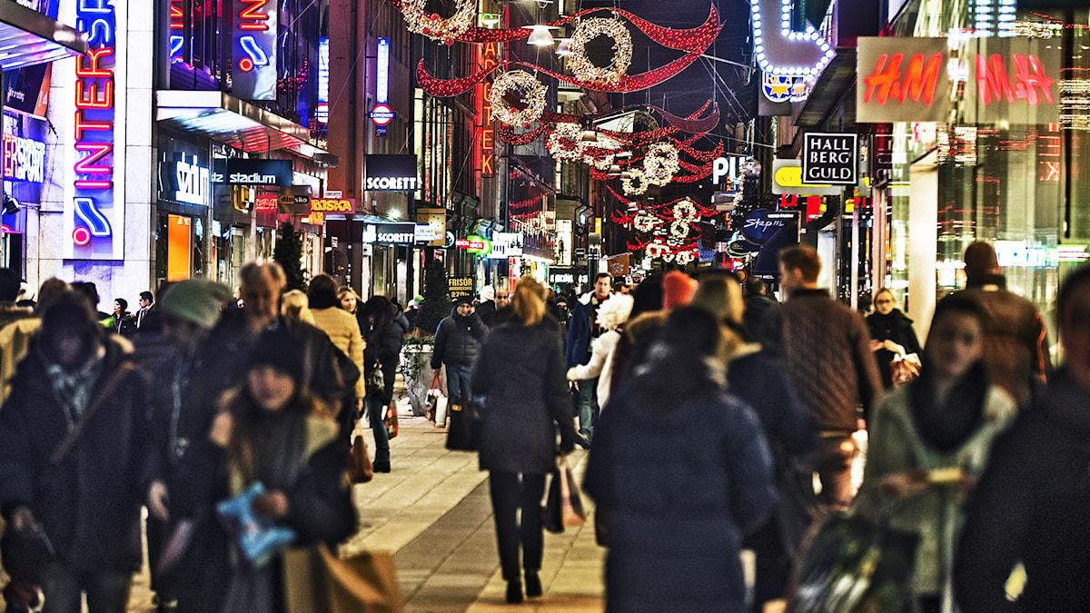 Weihnachtseinkäufe Foto: Tomas Oneborg / SvD / TT