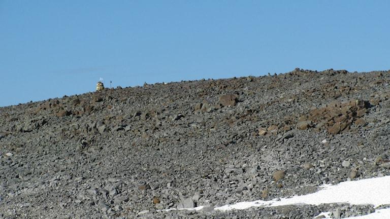 Rajapyykki 303B ei ole Haltin huipulla. Gränsmarkören sattes år 1764. Photo: Ari Mure, CC BY-SA 3.0. http://bit.ly/1O6aKXz