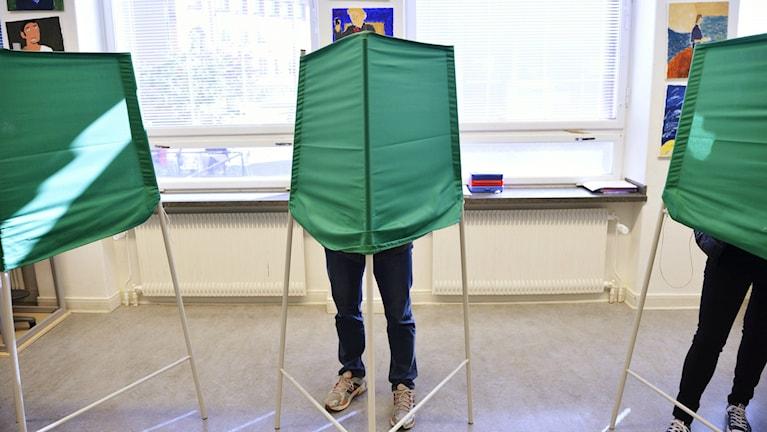 Kuvassa vaalilokaali. Foto: Henrik Montgomery / TT