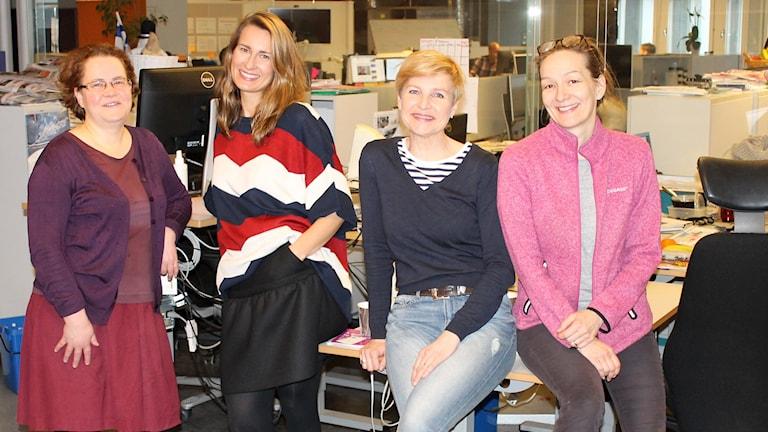 SVT toimittajat pohtivat uutiskieltä Kuva: Kirsi Blomberg