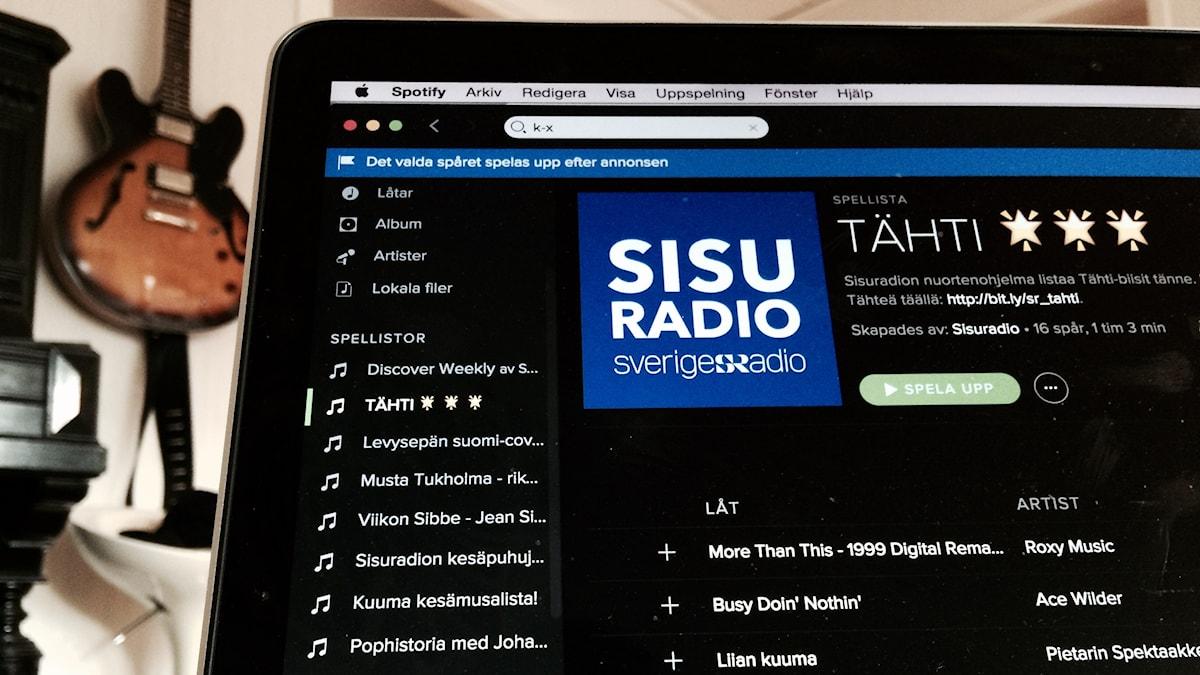 Sisuradion spotify-listojen joukosta löytyy myös Tähti-ohjelma. Kuva/Foto: Kai Rauhansalo