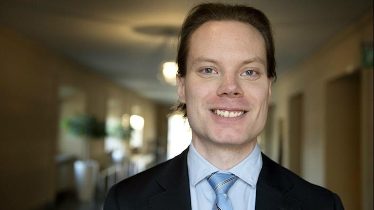 Kuvassa hymyilevä Martin Kinnunen. Foto/Kuva: Jessica Gow / TT