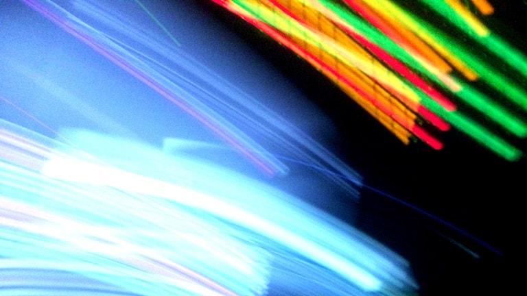 abstaktri kuva valoista