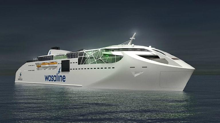 Tältäkö näyttää uusi Wasaline-alus? Foto: Wärtsilä.