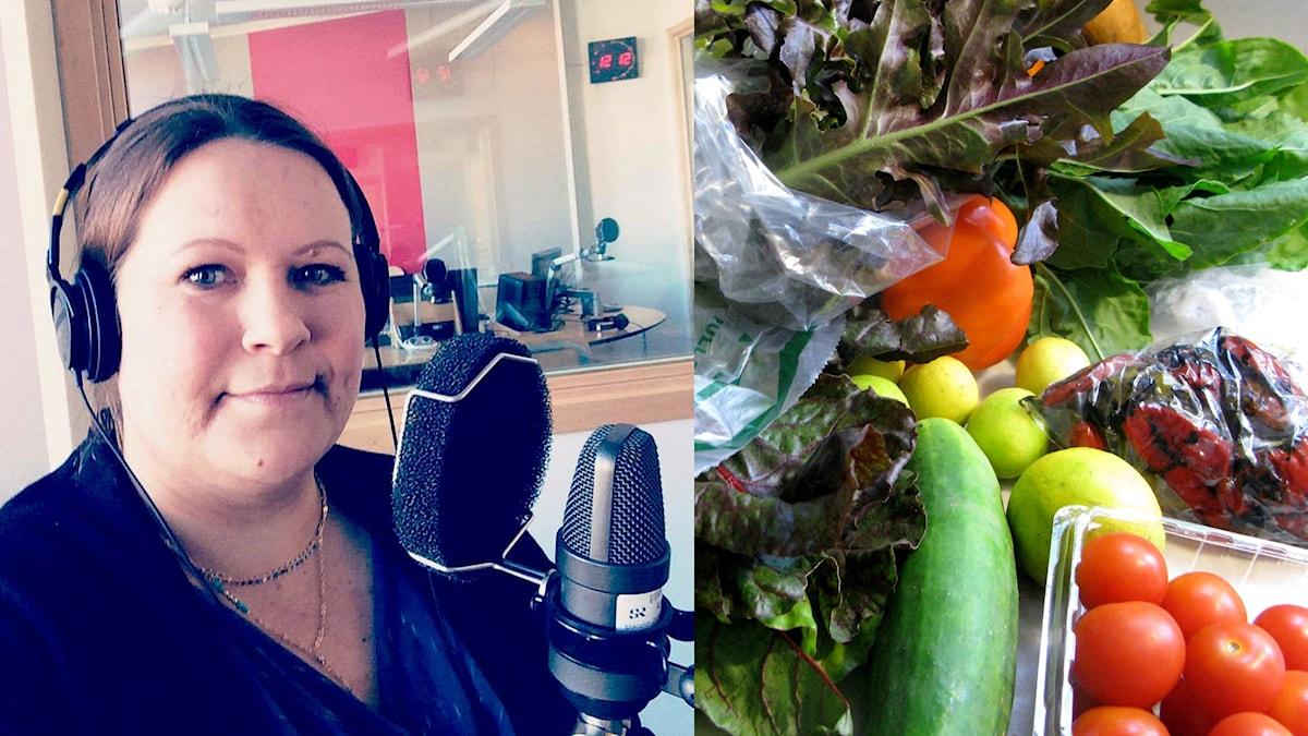 Tenha Wirtanen studiossa kertomassa ruokavaunu-hankkeestaan.
