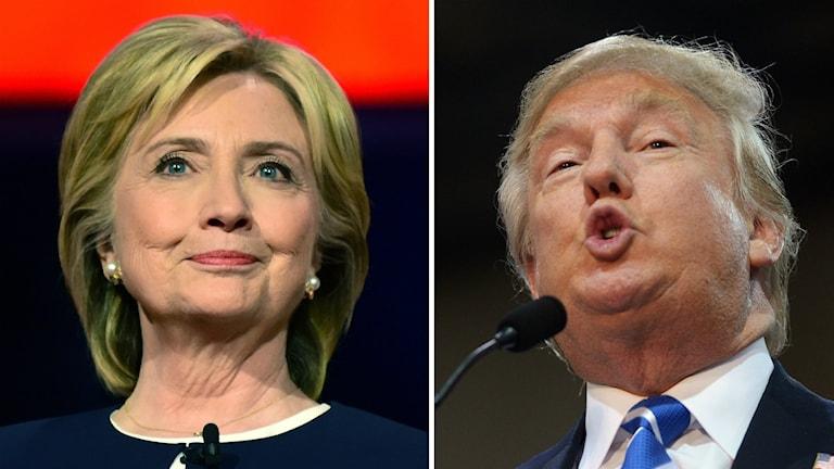 Hillary Clinton ja Donald Trump ovat kärkiehdokkaita Yhdysvaltojen presidentinvaaleissa.