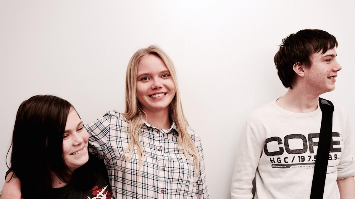 Ida Holma, Sini Halonen ja Mathias Kotikoski Larsson