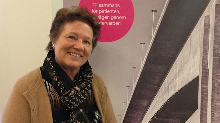 Arja Leppänen on prosessin johtaja Tukholman ja Gotlannin alueellisessa syöpäkeskuksessa (Regionalt Cancercentrum Stockholm och Gotland).