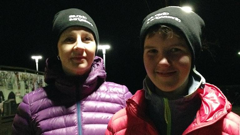 Leena ja Olivia Lehti ovat tyytyväisiä jouksukoulun jälkeen.